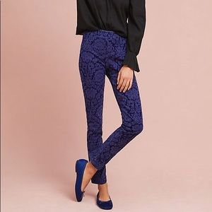 Anthropologie Essential Skinny Blue Pull On Pants